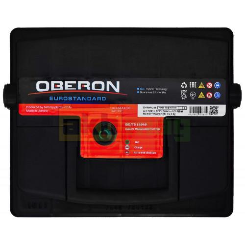 Автомобильный аккумулятор Oberon 6СТ-50 Eurostandard