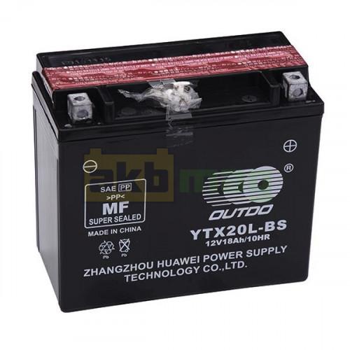 Мото аккумулятор Outdo 6СТ-18 UTX20L-BS