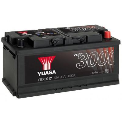 Автомобильный аккумулятор Yuasa 6СТ-90 SMF YBX3017