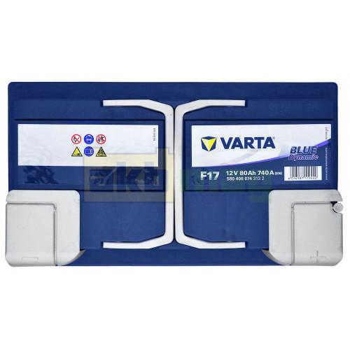 Автомобильный аккумулятор Varta 6СТ-80 F17 Blue Dynamic