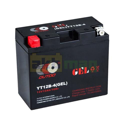 Мото аккумулятор Outdo 6СТ-10 YT12B-4