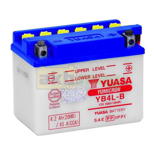 Мото аккумулятор Yuasa 6СТ-4,2 YuMicron YB4L-B