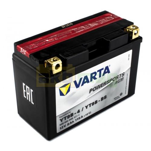 Мото аккумулятор Varta 6СТ-8 PowerSports AGM YT9B-BS