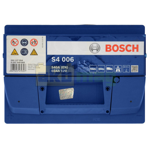 Автомобильный аккумулятор Bosch 6СТ-60 S4 006 0092S40060