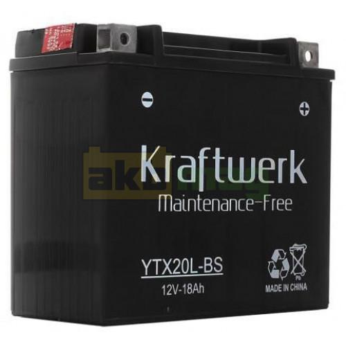 Мото аккумулятор Kraftwerk 6СТ-18 YTX20L-BS
