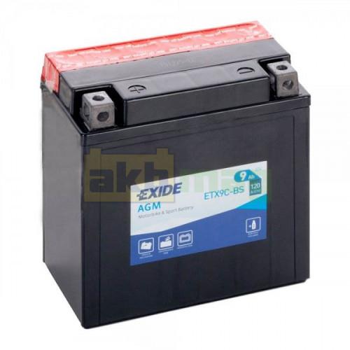 Мото аккумулятор Exide 6СТ-9 ETX9C-BS