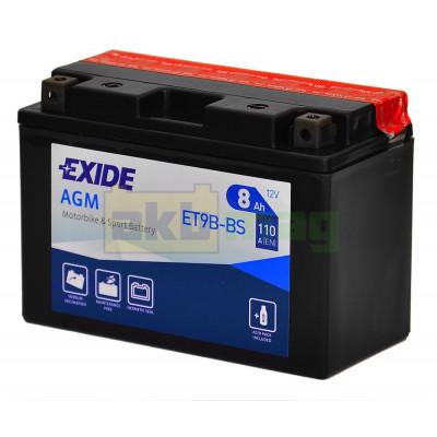 Мото аккумулятор Exide 6СТ-8 ET9B-BS