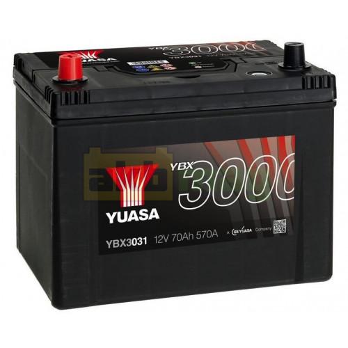 Автомобильный аккумулятор Yuasa 6СТ-70 SMF YBX3031