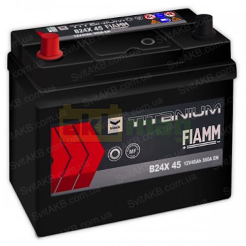 Автомобильный аккумулятор Fiamm 6СТ-45 Titanium Black
