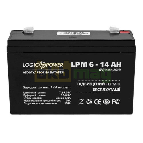 Аккумулятор LogicPower LPM6-14