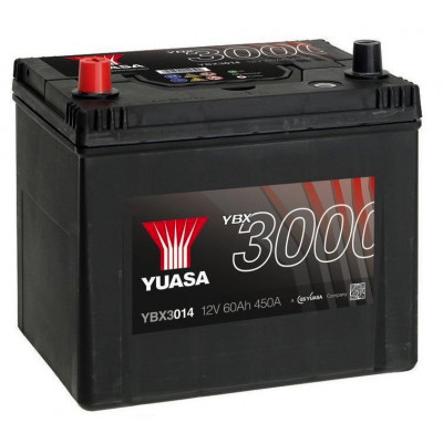 Автомобильный аккумулятор Yuasa 6СТ-60 SMF YBX3014