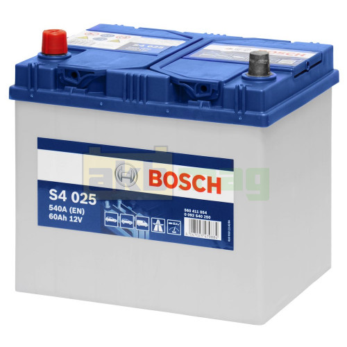 Автомобильный аккумулятор Bosch 6СТ-60 S4 025 0092S40250