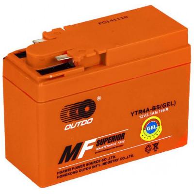 Мото аккумулятор Outdo 6СТ-2,3 YTR4A-BS
