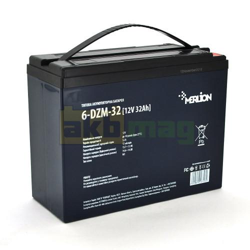 Тяговый аккумулятор MERLION 6-DZM-32