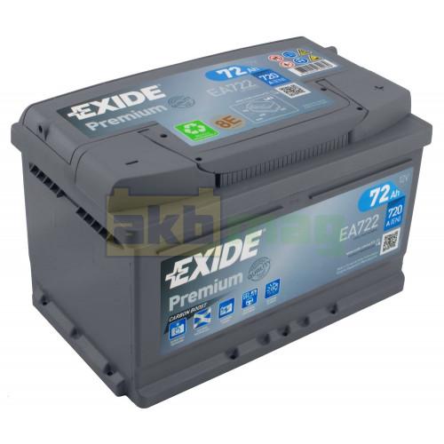 Автомобильный аккумулятор Exide 6СТ-72 Premium EA722