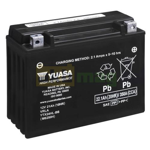 Мото аккумулятор Yuasa 6СТ-22 YTX24HL-BS