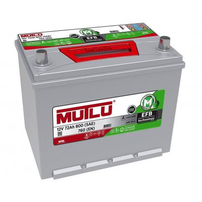 Автомобильный аккумулятор Mutlu 6СТ-72 Asia EFB