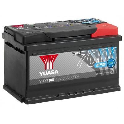 Автомобильный аккумулятор Yuasa 6СТ-65 EFB YBX7100