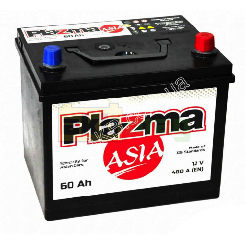 Автомобильный аккумулятор Plazma 6СТ-60 Asia