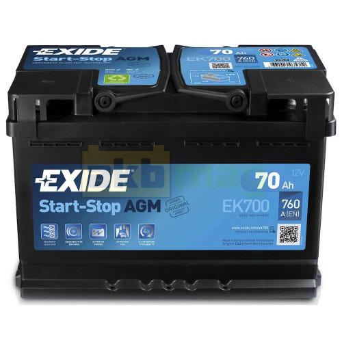 Автомобильный аккумулятор Exide 6СТ-70 Start-Stop AGM EK700