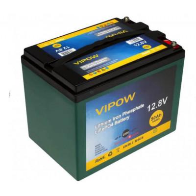 Аккумулятор Vipow LiFePO4 12V 50AH (BMS 40)