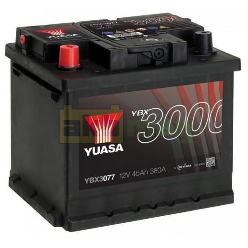 Автомобильный аккумулятор Yuasa 6СТ-45 SMF YBX3077