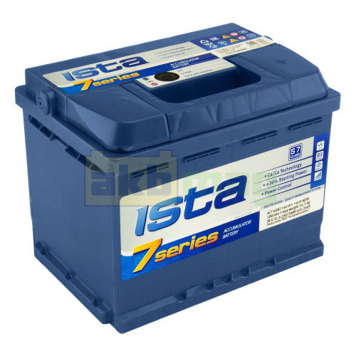 Автомобильный аккумулятор Ista 6СТ-60 7 Series 600A L