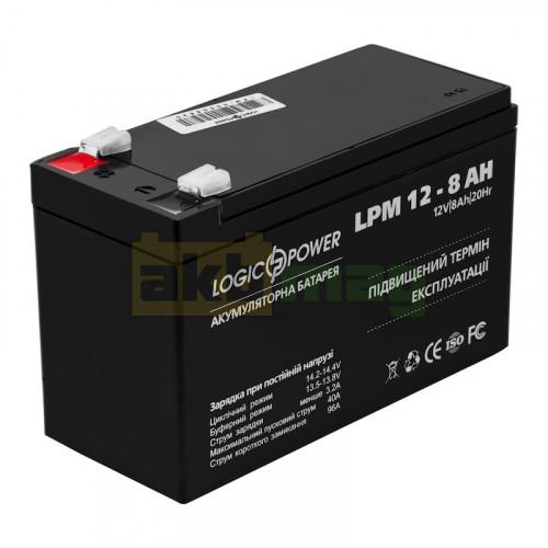 Аккумулятор LogicPower LPM12-8