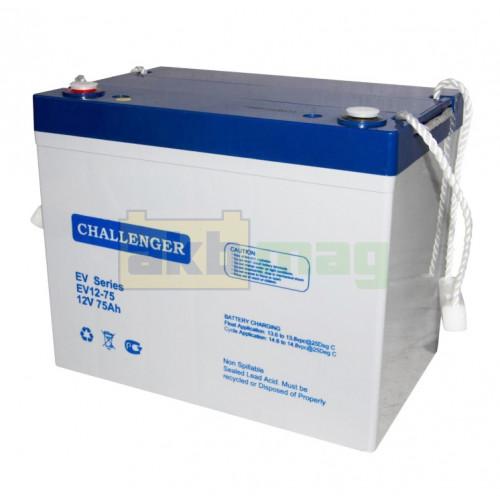 Тяговый аккумулятор Challenger EV12-75