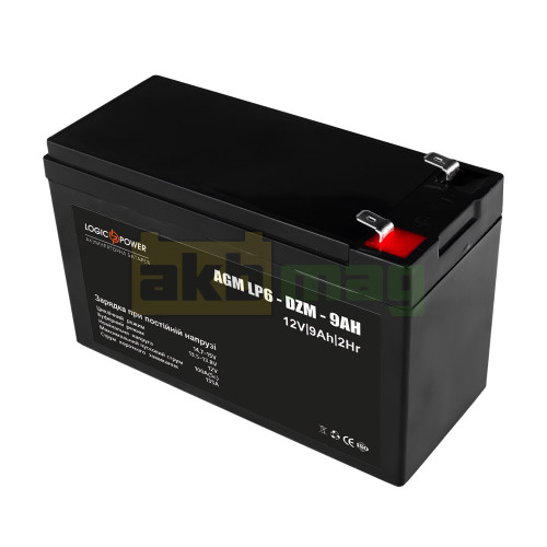 Тяговый аккумулятор LogicPower LP6-DZM-9