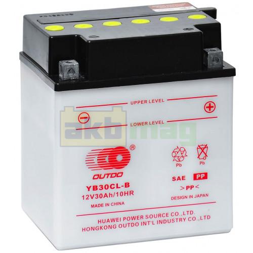 Мото аккумулятор Outdo 6СТ-30 YB30CL-B