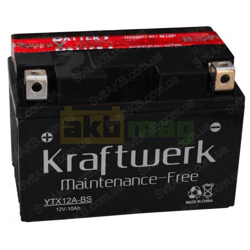 Мото аккумулятор Kraftwerk 6СТ-10 YTX12A-BS