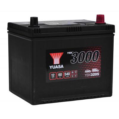 Автомобильный аккумулятор Yuasa 6СТ-60 SMF YBX3205