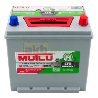 Автомобильный аккумулятор Mutlu 6СТ-64 EFB