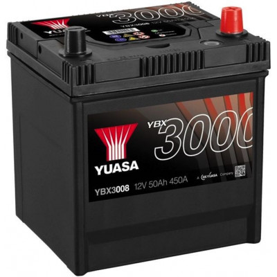 Автомобильный аккумулятор Yuasa 6СТ-50 SMF YBX3008