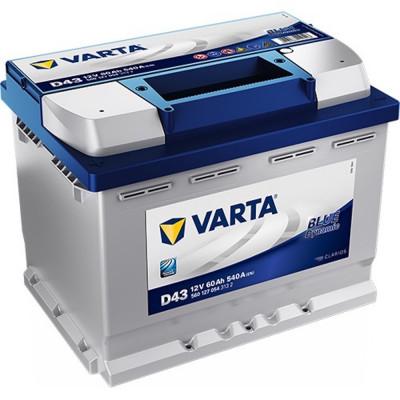Автомобильный аккумулятор Varta 6СТ-60 D43 Blue Dynamic