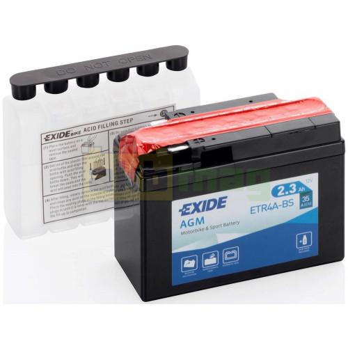 Мото аккумулятор Exide 6СТ-2,3 ETR4A-BS