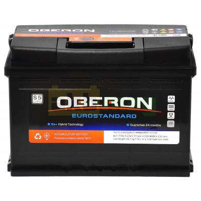 Автомобильный аккумулятор Oberon 6СТ-77 Eurostandard