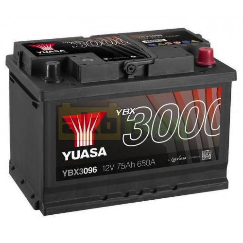 Автомобильный аккумулятор Yuasa 6СТ-75 SMF YBX3096