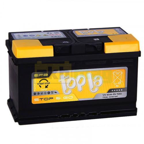 Автомобильный аккумулятор Topla 6СТ-80 Start-Stop EFB Euro