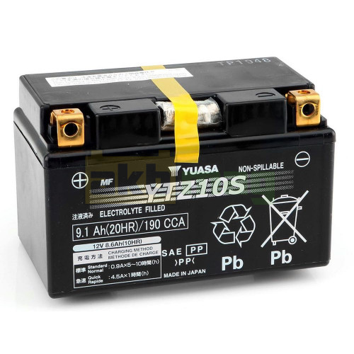 Мото аккумулятор Yuasa 6СТ-9,1 YTZ10S