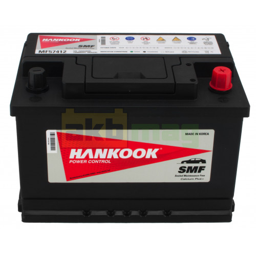 Автомобильный аккумулятор Hankook 6СТ-74 SMF 57412