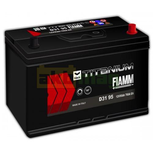 Автомобильный аккумулятор Fiamm 6СТ-95 Titanium Black