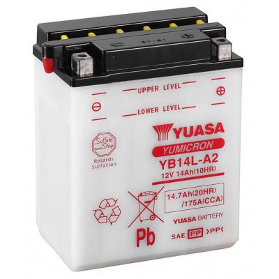 Мото аккумулятор Yuasa 6СТ-14,7 YuMicron YB14L-A2