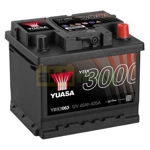 Автомобильный аккумулятор Yuasa 6СТ-45 SMF YBX3063