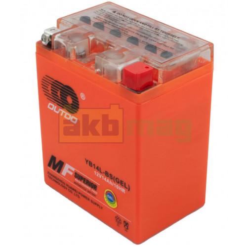 Мото аккумулятор Outdo 6СТ-14 YB14L-BS