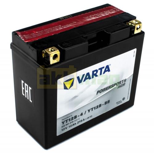 Мото аккумулятор Varta 6СТ-12 Powersport AGM YT12B-BS/YT12B-4