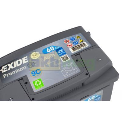 Автомобильный аккумулятор Exide 6СТ-60 Premium EA601