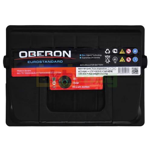 Автомобильный аккумулятор Oberon 6СТ-60 Eurostandard