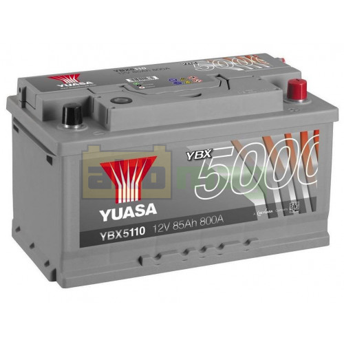 Автомобильный аккумулятор Yuasa 6СТ-85 SHP YBX5110